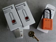 Lot de 5 Master Lock 406 Sécurité Cadenas orange (ML-406-ORJ)