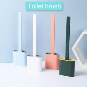 Toilet Brush TPR Flexi Head with Holder Bathroom Utensils Square Silicone 2021