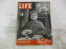 Life Magazine January 21st 1946 Cardinal Designate Spellman Publisher Time mg192