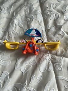 Vintage 1991 New Ray Novelty Wind Up Seesaw Swing Toy