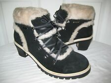 LUGZ  NY LUG CO Black Leather Shearling Boots Womens Shoes Size 42 / 10