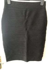 Black Bandage Pencil Skirt UK10