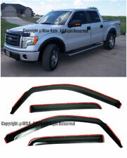 SIDE IN CHANNEL WINDOW VISORS FOR 2004-2014 FORD F-150 CREW CAB F150
