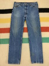 Vintage Levis 505 Orange Tab Blue Denim Zipper Fly Jeans Sz 37x33