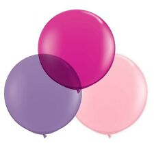 """Pink & Purple 24""""/2ft Big Giant Latex Balloons 3pk Party Decorations"""