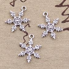 Copo de Nieve Navidad Plata encantos, encantos, encantos, fabricación de joyas,