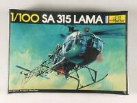 PRL) SA 315 LAMA ELICOTTERO MONTAGGIO MODELLINO MODEL 1:100 HELICOPTER HELLER