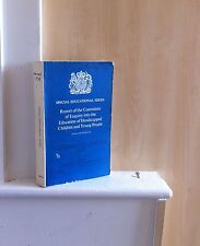 Report of the Committee of Enquiry into the Education of Handicapped Children