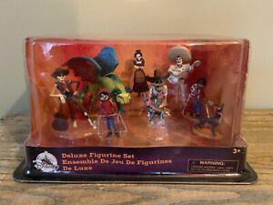 Disney Store Coco Deluxe 9 Figure Playset Dante Miguel Hector Pepita Pixar New