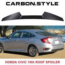 Unpainted Rear Roof Spoiler For Honda Civic 10th Sedan V Type DX EX LX