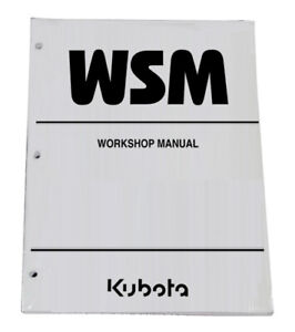 Kubota M6800 M6800S M8200 M9000 Tractor Workshop Service Manual Repair Shop Book