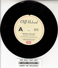 "CLIFF RICHARD  The Only Way Out  7"" 45 rpm vinyl record + juke box title strip"