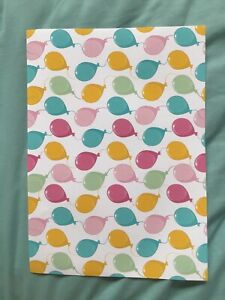 Party Balloons Thick Fabric/Paper Coloured A4 Sheet