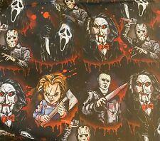 New! Horror Movie Villains Custom 100 % Cotton Fabric 1/4 Yard 9 X 57