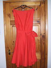 Vintage 50's, 60's Rockabilly - Audrey Red Swing Dress