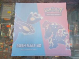 Pokemon TCG Rare Promo  Window Cling Unused Kyogre Groudon