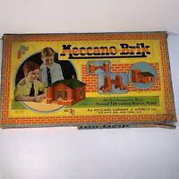 Vtg Rare Meccano-Brik Number 1 Erector Set Building Toy Hobby Early 1900s HTF