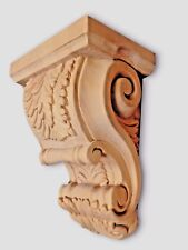 Large Acanthus Leaf Design Bar Island Wood Corbel Solid Maple