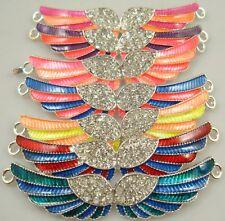 hot 1pcs Crystal  mix Rhinestone Charm Bracelet Necklace Connector 1vf