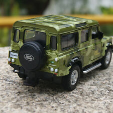 "Land Rover Model Cars Gifts Defender Camouflage green 5.3"" Alloy Diecast Toys"