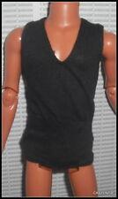 TOP MATTEL KEN DOLL ELVIS PRESLEY BLACK SLEEVELESS SHIRT CLOTHING ACCESSORY