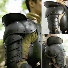 Larp Giant Dark Warrior Pauldrons Shoulder Armour Perfect For Costume Or Theatre