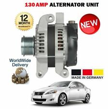 FOR LEXUS IS220D 2.2 DIESEL 2AD-FTV 150BHP 2010--> NEW ALTERNATOR 130 AMP UNIT