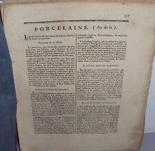 Encyclopédie Méthodique Panckoucke Arts et Métiers mécaniques Porcelaine, 4 plch