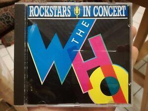 THE WHO Rockstars in concert cd RARE Amsterdam 1969 Monterey 1967 +++ live
