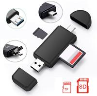 ✅5in1 OTG Stick TF SD Kartenleser Typ-C Micro USB 2.0 Stick Apple Samsung Huawei