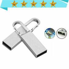 USB Flash Drive 1MB-64GB Metal USB Drive Memory Stick Key Data Storage Pendrive-