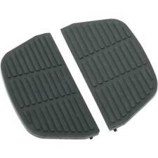 Drag Specialties 1621-0465 Black Rear Passenger Floorboard Inserts For Harley