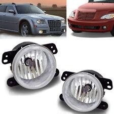 for 05-10 Chrysler 300 3.5L / 06-09 PT Cruiser Clear Fog Light Front Bumper Lamp
