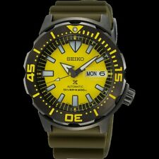 NEW SEIKO Monster SRPF35 Yellow Limited Special Edition Automatic Watch 4R36