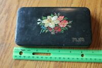 Decoupage box Vintage hand made mother of pearl crafting tools x-acto scissors