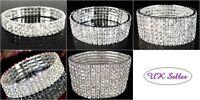 NEW Stunning Diamante Crystal Rhinestone Stretch Bracelet Wedding Free Gift Bag