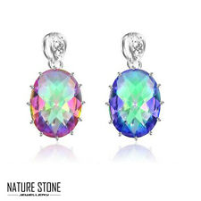 Wholesale Jewelry 4 pcs 1 Lot Rainbow Mystical Topaz Silver Necklace Pendant