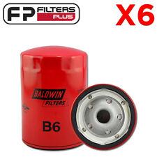 6 x B6 Baldwin Oil Filter- Chev V8 5.7L 350, 6.6L 420, 5.0L 307, 7.4L 454 - WZ24