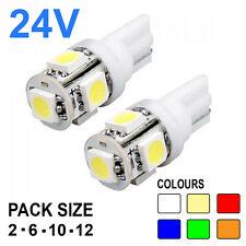 24v Capless Side Light 507 501 W5W 5 SMD T10 Hella Spot Bulbs HGV Truck 505 W3W