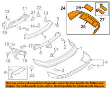 AUDI OEM 10-15 Q7 Rear Bumper-Accessory Kit 4L0071055B