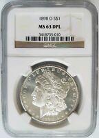 1898 O Silver Morgan Dollar NGC MS 63 DPL Deep Mirrors Proof Like PL DMPL Coin