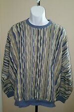 TUNDRA CANADA by Norman Thompson Multi-colored Sweater XL Coogi Style