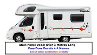 Motorhome Horsebox Caravan Campervan Decal Vinyl Graphics Stickers Design MH012