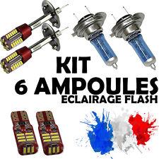 KIT 6 AMPOULE XENON • 2x H7 + 2x H1 + 2x LED T10 • PEUGEOT 207 HDI I CC SW 3P 5P