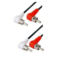 1,5m Audio Kabel L R Cinch Cinc RCA Kabel auf 2x Chinch Stecker Winkelstecker