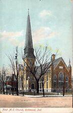 Richmond Indiana First M.E. Church Indianapolis Indiana c1910 Postcard