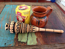 Classic Wooden Whisk Stirrer Mexican Molinillo Chocolate Kitchen Utensils Xmas