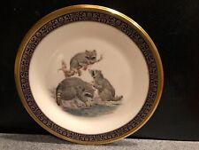 "Lenox/Boehm Woodland Wildlife Collector Plate 1973 ""Raccoons"""