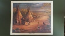 """1985 """"Before the Storm"""" Native American Ed Breeding Autographed Print"""