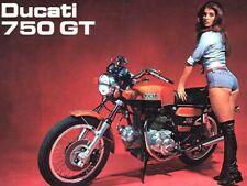DUCATI 750GT MOTORCYCLE MOTORBIKE VINTAGE POSTER BROCHURE ADVERT A3